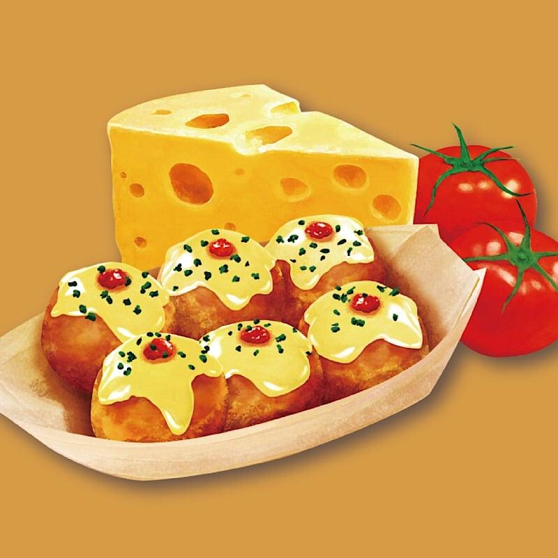 【店頭払い限定】チーズたこ焼き|6玉|テイクアウト可のイメージその1