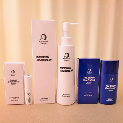【通販】【高ポイント還元】フルスターターセット。ファイター(塗り直しのいらない日焼け止め) &クレンジングオイル&リッププロテクトクリーム エメレのフルセット。初めての方はフルセットがオススメ!『アグレッシブデザイン』Top Athlete Sun Protect ''Fighter'' &  Waterproof Cleansing Oil &  Lip Protect Cream ''Hemere''