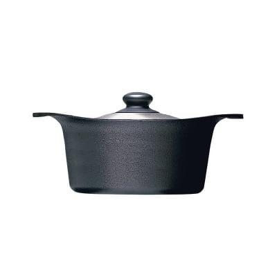 柳宗理 南部鉄器 鉄鍋深型22cm(ステンレス蓋付)