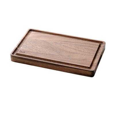 【D&Sウッドウェアシリーズ】カッティングボード グルーブ 400×247×高さ35(mm) 天然木(アカシア)