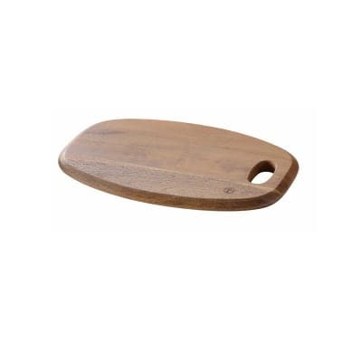 【ケヴンハウンDスタイルシリーズ】オーバルカッティングボード& ケーキトレイ L 360×260×H20(mm) 天然木(アカシア)