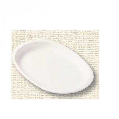 【ポリプロピレン食器】小判皿(白)№1707W