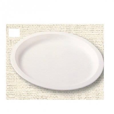 【ポリプロピレン食器】丸皿 26cm(白)№1708W