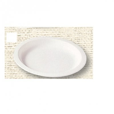【ポリプロピレン食器】丸皿 20cm(白)№1706W