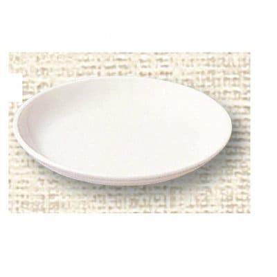 【ポリプロピレン食器】給食皿 14cm(白)№1710W