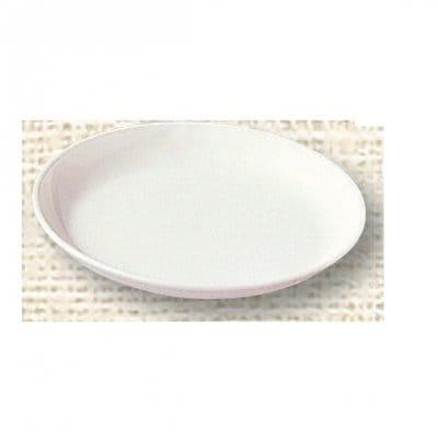 【ポリプロピレン食器】給食皿 16cm(白)№1712W
