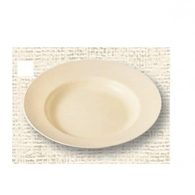 【ポリプロピレン食器】スープ皿(クリーム)№1716K