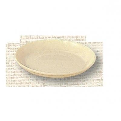 【ポリプロピレン食器】給食皿 14cm(クリーム)№1710K
