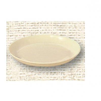 【ポリプロピレン食器】給食皿 16cm(クリーム)№1712K