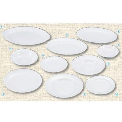 【メラミン給食用食器】平皿(メタ型)9インチ №30 画像⑧