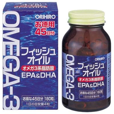 フィッシュオイル DHA EPA フィッシュ 魚嫌い サラサラ サプリメント 4粒でイワシ・マグロ・カツオ由来のフィッシュオイル約1.2gが摂取できる