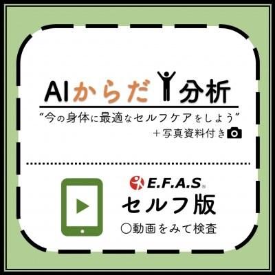 AIからだ分析 【EFASセルフ版】 分析データを元に、最適な身体のセルフケアがわかります! 【オンライン整体・オンライン施術】
