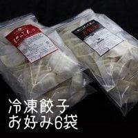 【冷凍生餃子6袋セット】送料込。組み合わせ自由。アッサリはっしん餃子1袋21個入り/スタミナ力餃子1袋17個入り