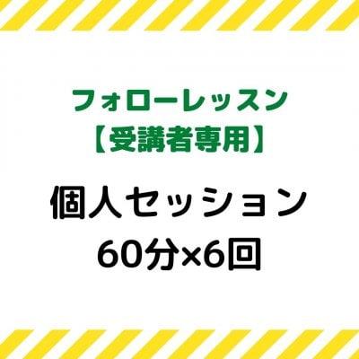 【フォローレッスン受講者限定】個人セッション(60分×6回)