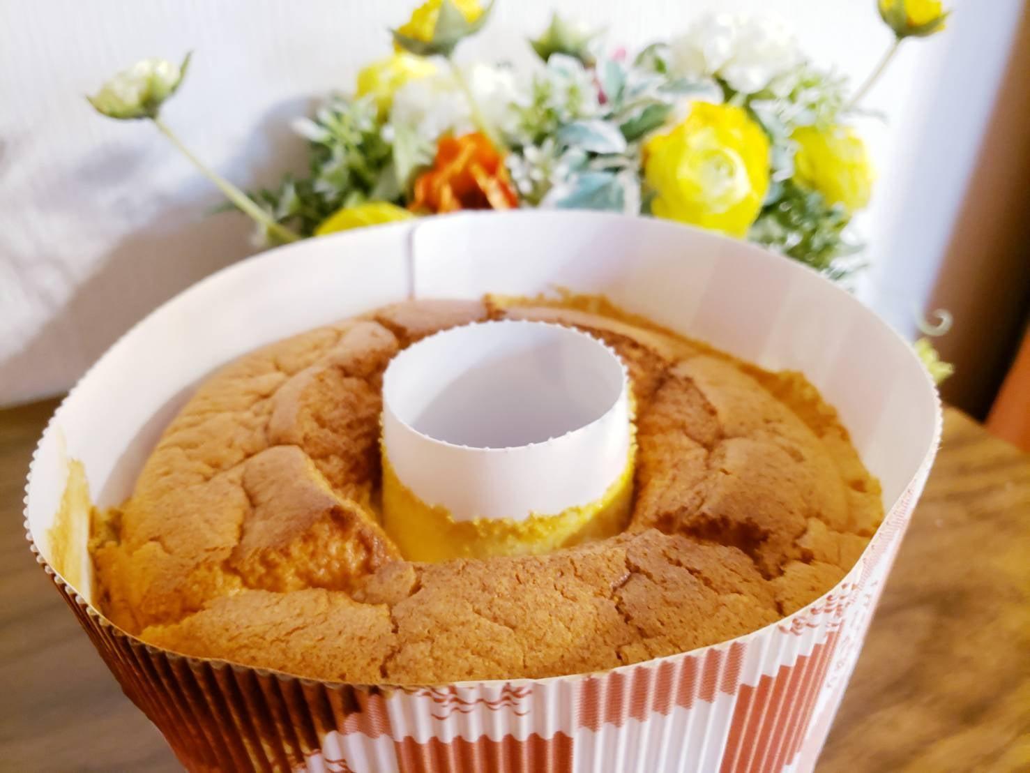 7月19日(金)お渡し【返礼品付き寄付】しっとりふわふわ!米粉シフォンケーキ1ホールがご寄付のお礼のイメージその2