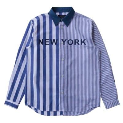 NYC STRIPE SHIRT ネイビー XL・2XLサイズ