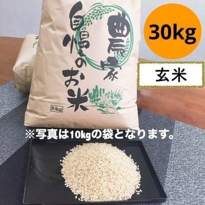 魚沼産コシヒカリ 玄米 30kg リバースファーム自慢の美味しいお米