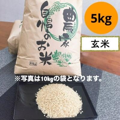 魚沼産コシヒカリ 玄米 5kg リバースファーム自慢の美味しいお米