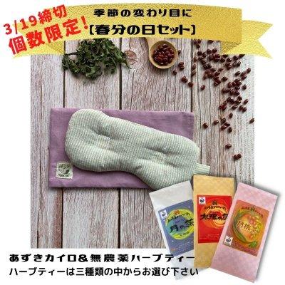 [予約販売・春分の日セット]月桃入り小豆カイロと選べるハーブティーセ...