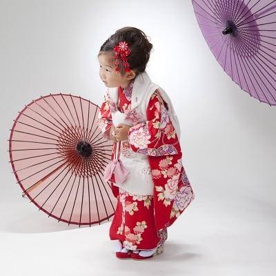 【七五三記念撮影・現地払い】3歳向け・ミナヨの衣装で撮影もおでかけもできますAプラン 古山様特別セット