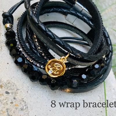 【講師様用】8wrap bracelet 作成キット(ブラック)