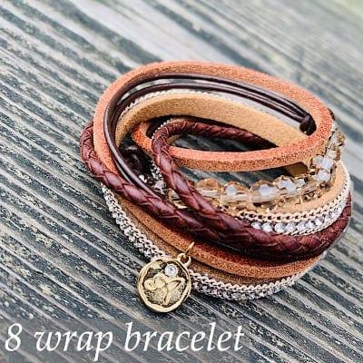 【講師様用】8wrap bracelet 作成キット(ブラウン)