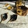 leather teardrop Pierce&earring作成キット