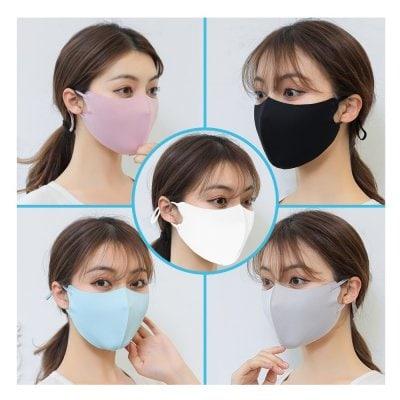 クールマスク5色 男女兼用【洗えるマスク・涼しい立体感・長さ調整付き】