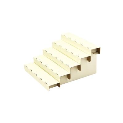 組立式5段飾り棚 ホワイト 2枚入り  (No.44-5840)