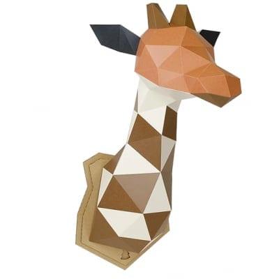 【Lサイズ/取寄商品】ペーパークラフト 組み立てるインテリアKAKUKAKU【GIRAFFE(キリン)】