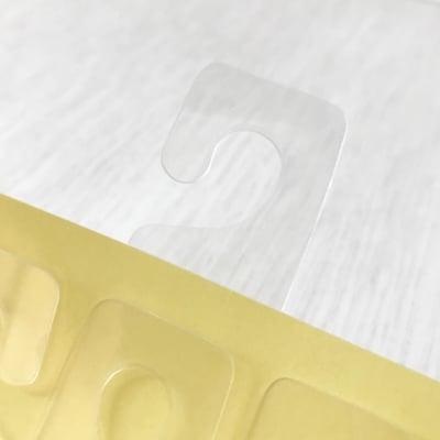 【100枚】商品陳列用 透明フックシール