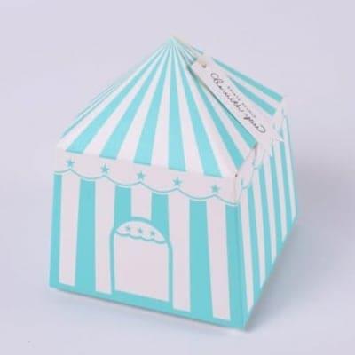 プレゼントボックス テント ブルー 10枚入り  (No.BLHW158118-2)