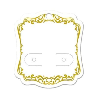 【単価10円】ピアス・イヤリング台紙 ホワイト(レリーフ) S    (No.19-2622)