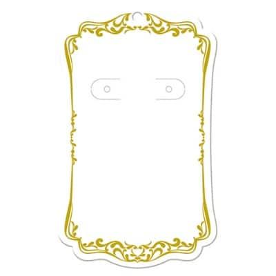 【単価20円】 ピアス・イヤリング台紙 ホワイト(レリーフ) LL    (No.19-2632)