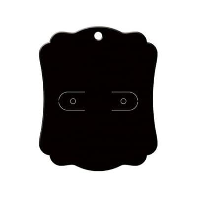 ピアス・イヤリング台紙 ブラック M    (No.19-2610)