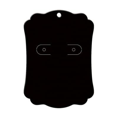 ピアス・イヤリング台紙 ブラック L    (No.19-2600)