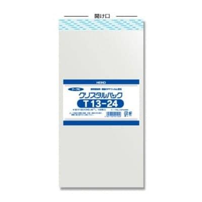 やぶれにくい!帯電防止処理済 テープ付き透明OPP袋クリスタルパック( T13-24)