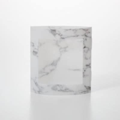 ピアスのガクブチ White Marble