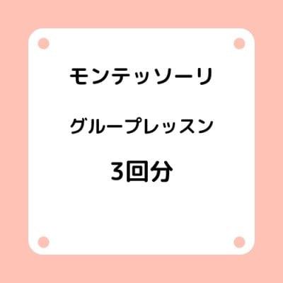 横浜のモンテッソーリお預かりグループレッスン3回分