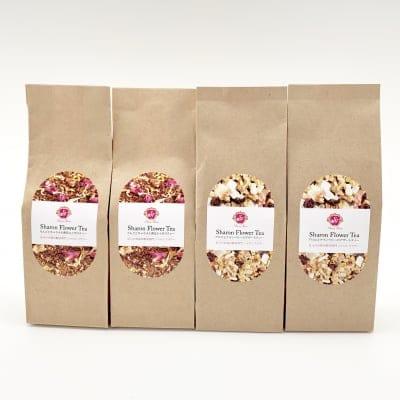 【お得な4セット】りんごとキャラメル香るルイボスティー2袋&アロエとクランベリーのデザートティー2袋|シャロンフラワーオリジナルティー
