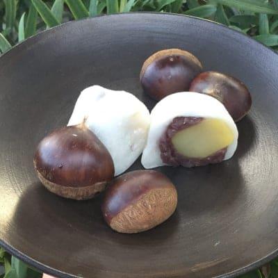 ビックリするほど美味しい!栗大福6個セット 11月30日迄の限定秋の味覚。ごろんと大きめ国産栗が国産米で作ったお餅に包まれて幸せ気分。