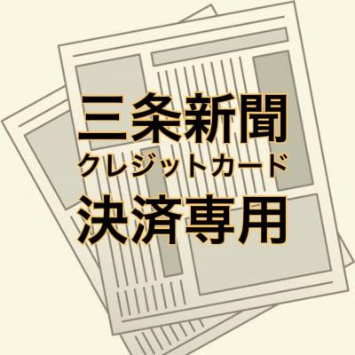 三条新聞・クレジットカード決済専用