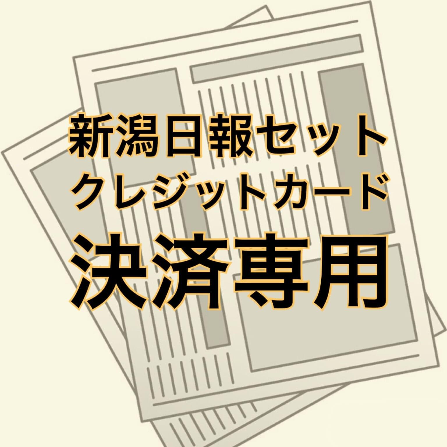 新潟日報セット クレジットカード決済専用のイメージその1