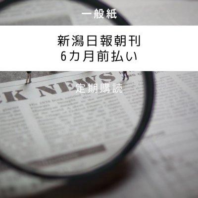 新潟日報朝刊6ヶ月前払い クレジットカード決済専用