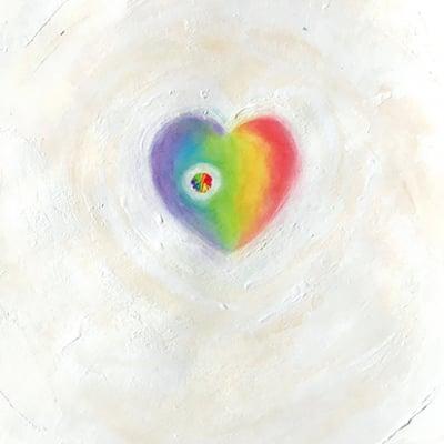 チャームカード(ポストカード) Knock on the heart
