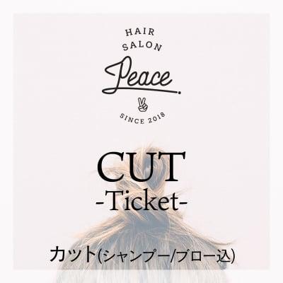 カットチケット Hair Salon PEACE ※カード決済の場合も現地払いを選んでください。
