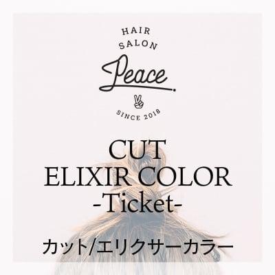 カット/カラー/エリクサーカラー(ボブ)チケット Hair Salon PEACE