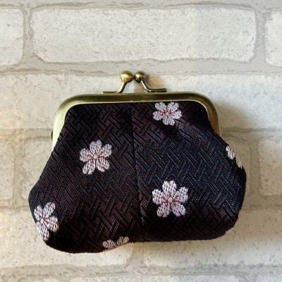 がま口小銭入れ桜柄|畳職人がつくる畳のへりを使用した小銭入れ
