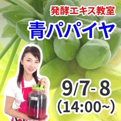《9月7日,8日 14:00》発酵エキス教室「青パパイヤ」【現地払い】