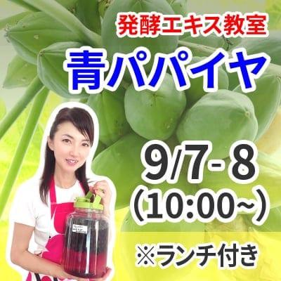 《9月7日,8日 10:00》発酵エキス教室「青パパイヤ」※ランチ付き【現地払い】